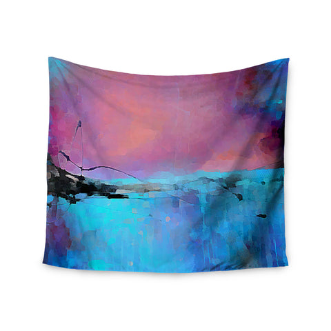 "Oriana Cordero ""Versailles-Abstract"" Pink Blue Wall Tapestry - KESS InHouse  - 1"