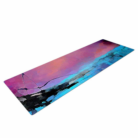 "Oriana Cordero ""Versailles-Abstract"" Pink Blue Yoga Mat - KESS InHouse  - 1"