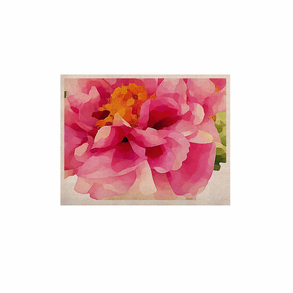 "Oriana Cordero ""Peonies"" Pink Green KESS Naturals Canvas (Frame not Included) - KESS InHouse  - 1"