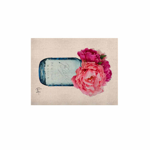 "Oriana Cordero ""Perfect Mason"" Blue Pink KESS Naturals Canvas (Frame not Included) - KESS InHouse  - 1"