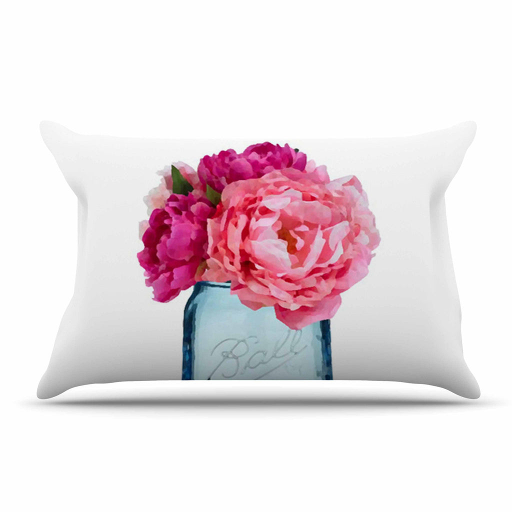 "Oriana Cordero ""Perfect Mason"" Blue Pink Pillow Sham - KESS InHouse"