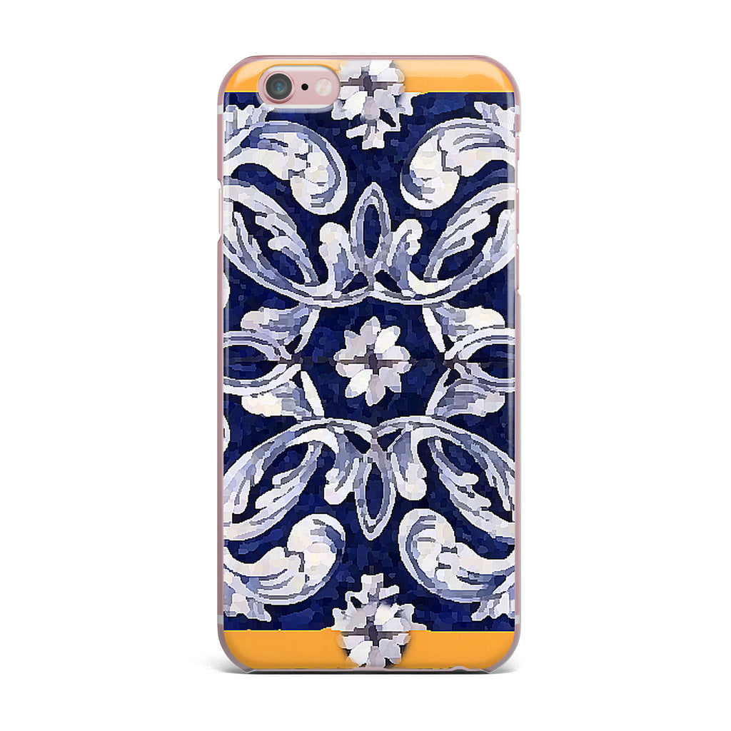 "Oriana Cordero ""Lisboa"" Blue Yellow iPhone Case - KESS InHouse"