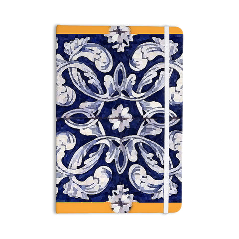 "Oriana Cordero ""Lisboa"" Blue Yellow Everything Notebook - KESS InHouse  - 1"