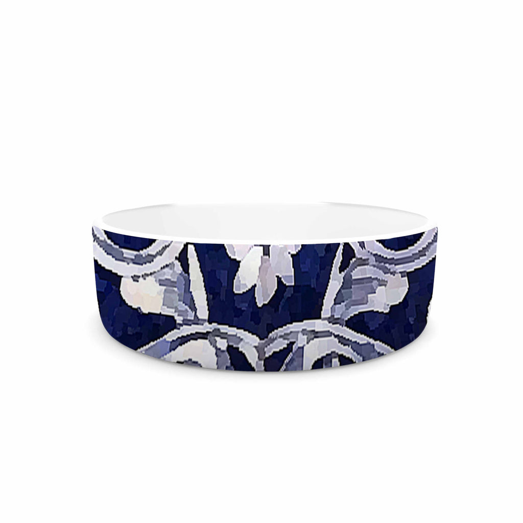"Oriana Cordero ""Lisboa"" Blue Yellow Pet Bowl - KESS InHouse"