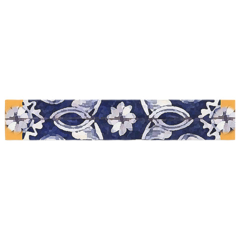 "Oriana Cordero ""Lisboa"" Blue Yellow Table Runner - KESS InHouse  - 1"
