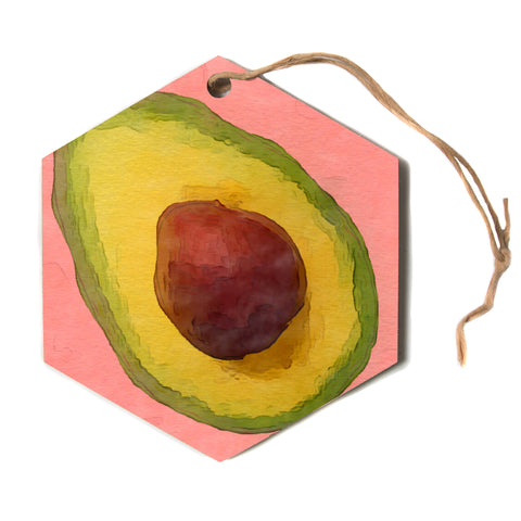 "Oriana Cordero ""Avocado For Lola""  Hexagon Holiday Ornament"
