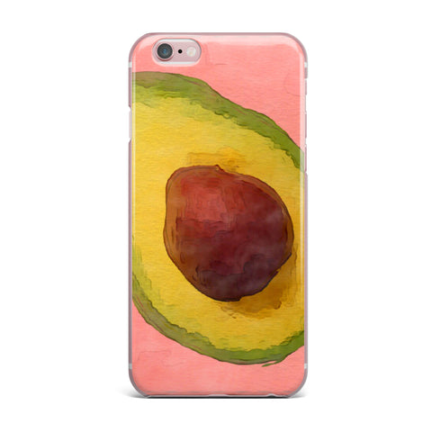 "Oriana Cordero  ""Avocado For Lola"" Green Pink iPhone Case - KESS InHouse"
