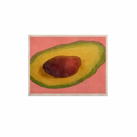 "Oriana Cordero  ""Avocado For Lola"" Green Pink KESS Naturals Canvas (Frame not Included) - KESS InHouse  - 1"
