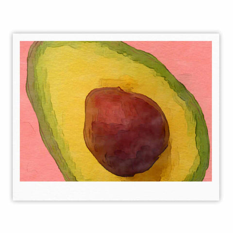 "Oriana Cordero  ""Avocado For Lola"" Green Pink Fine Art Gallery Print - KESS InHouse"