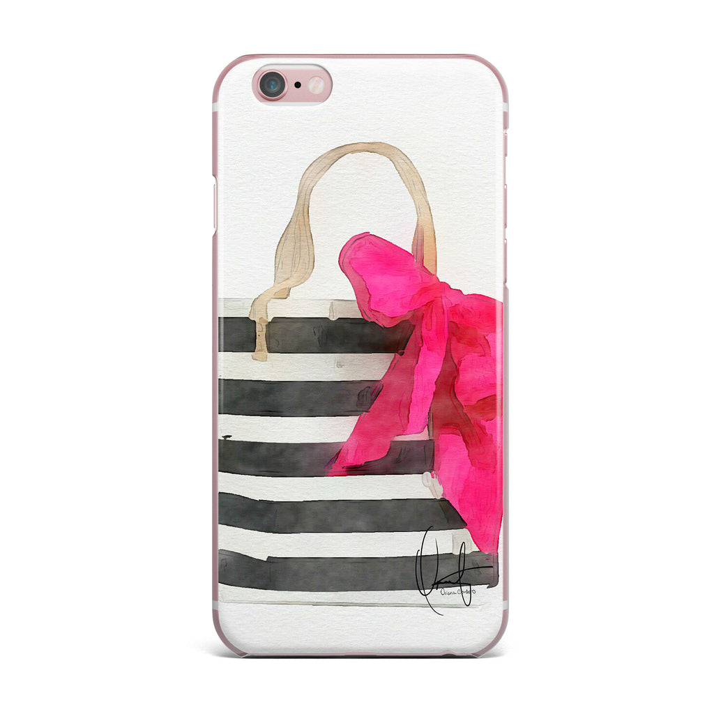 "Oriana Cordero  ""French Outing"" Black Pink iPhone Case - KESS InHouse"