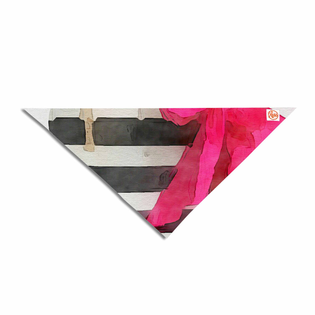 "Oriana Cordero  ""French Outing"" Black Pink Pet Bandana - KESS InHouse  - 1"