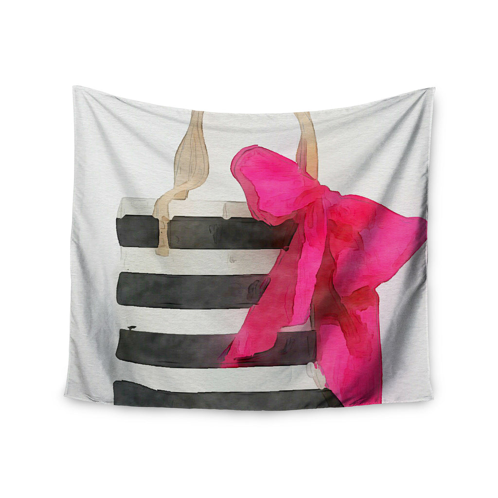 "Oriana Cordero  ""French Outing"" Black Pink Wall Tapestry - KESS InHouse  - 1"