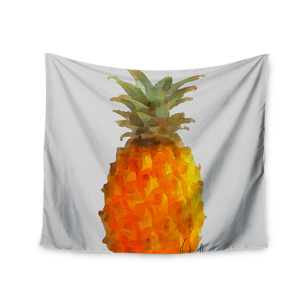 "Oriana Cordero  ""Before Pina Colada"" Orange Green Wall Tapestry - KESS InHouse  - 1"