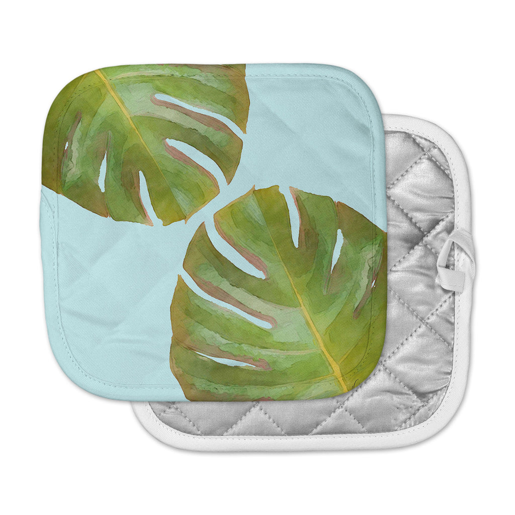 "Oriana Cordero  ""Tropico V2"" Aqua Green Pot Holder"