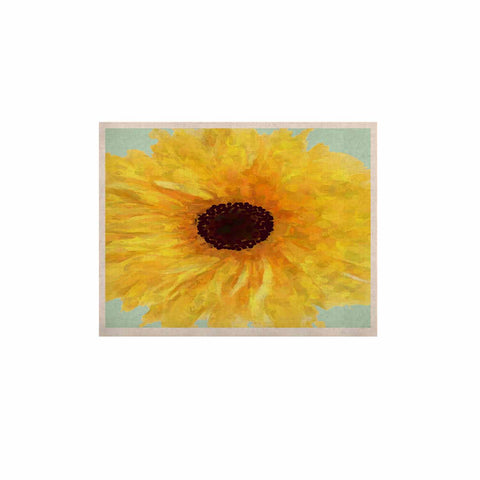 "Oriana Cordero  ""Sol"" Yellow Seafoam KESS Naturals Canvas (Frame not Included) - KESS InHouse  - 1"