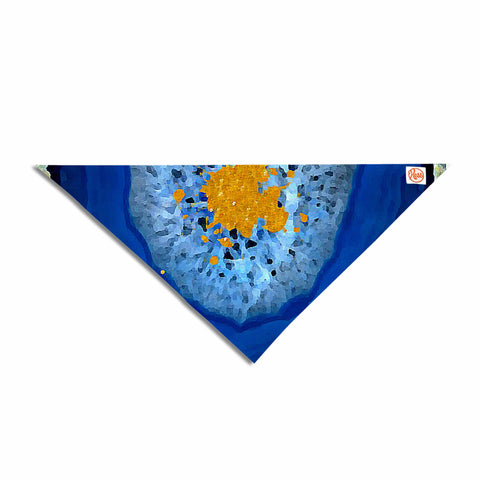 "Oriana Cordero ""Agate Blue"" Blue Orange Pet Bandana - KESS InHouse  - 1"