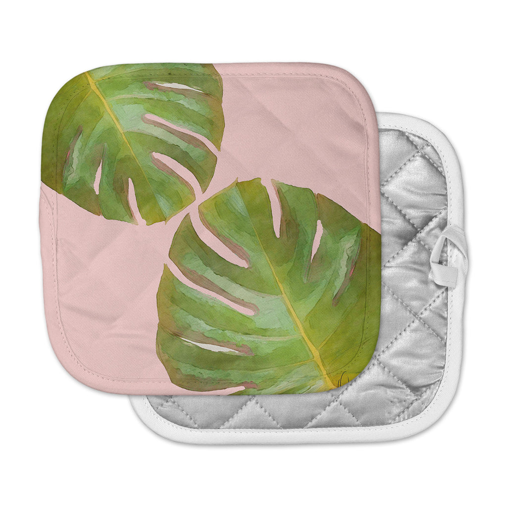"Oriana Cordero  ""Tropico V3"" pink Green Pot Holder"