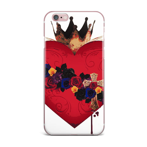 "Oriana Cordero  ""Sacred Heart For Frida"" Red Purple iPhone Case - KESS InHouse"