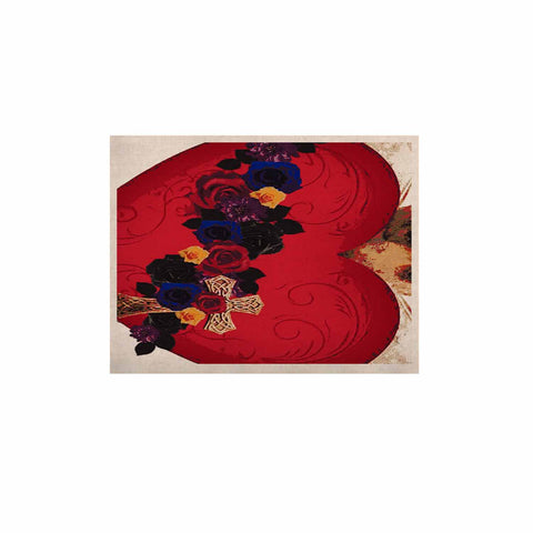 "Oriana Cordero  ""Sacred Heart For Frida"" Red Purple KESS Naturals Canvas (Frame not Included) - KESS InHouse  - 1"