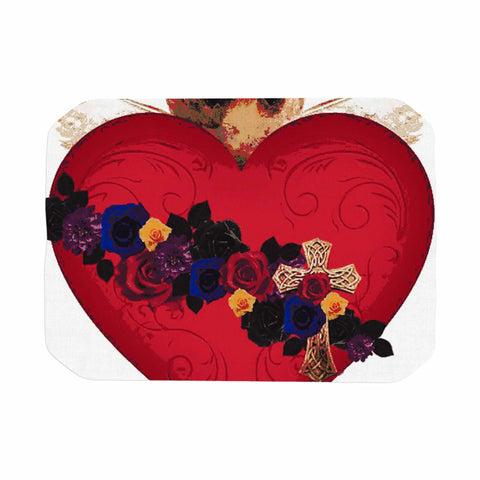"Oriana Cordero  ""Sacred Heart For Frida"" Red Purple Place Mat - KESS InHouse"