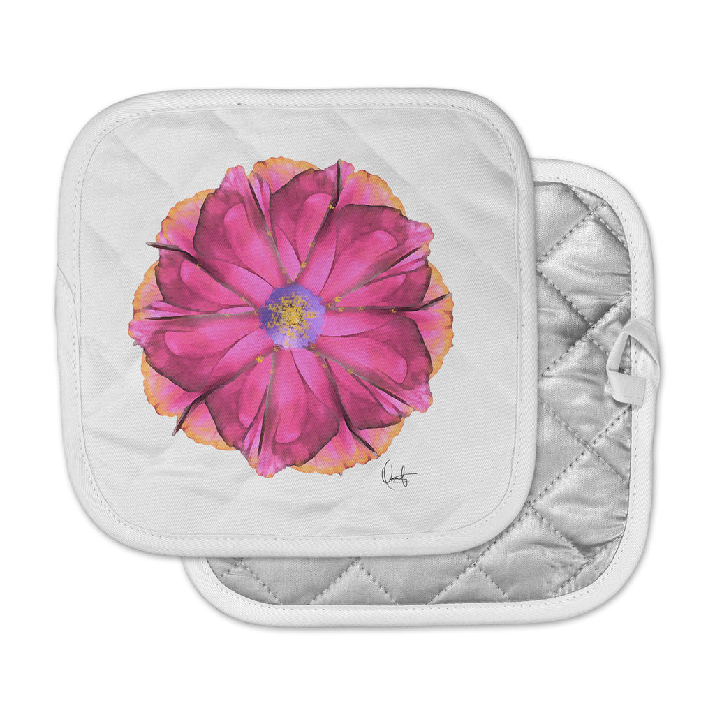 "Oriana Cordero  ""Athena-Flower"" Pink Lavender Pot Holder"