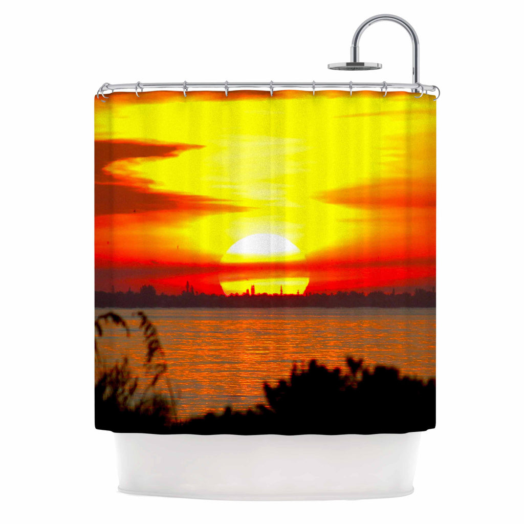 Sunrise On Sanibel Shower Curtain By Philip Brown