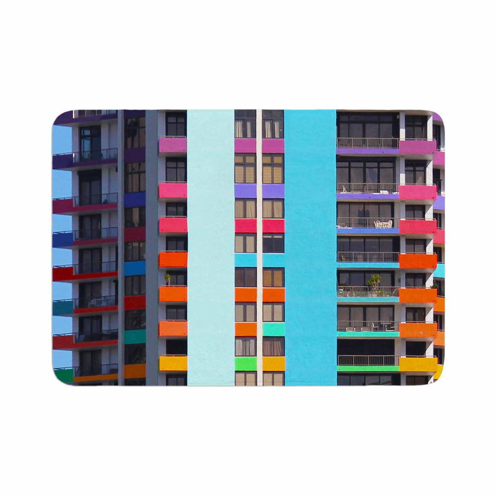 "Philip Brown ""The Rainbow Building"" Multicolor Modern Memory Foam Bath Mat - KESS InHouse"