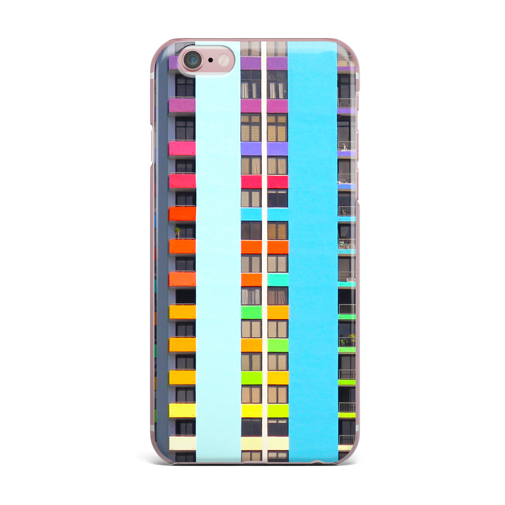 "Philip Brown ""The Rainbow Building"" Multicolor Modern iPhone Case - KESS InHouse"