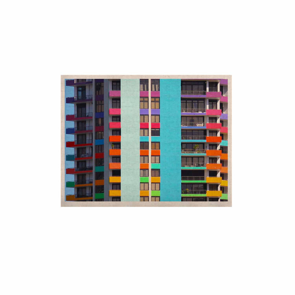 "Philip Brown ""The Rainbow Building"" Multicolor Modern KESS Naturals Canvas (Frame not Included) - KESS InHouse  - 1"