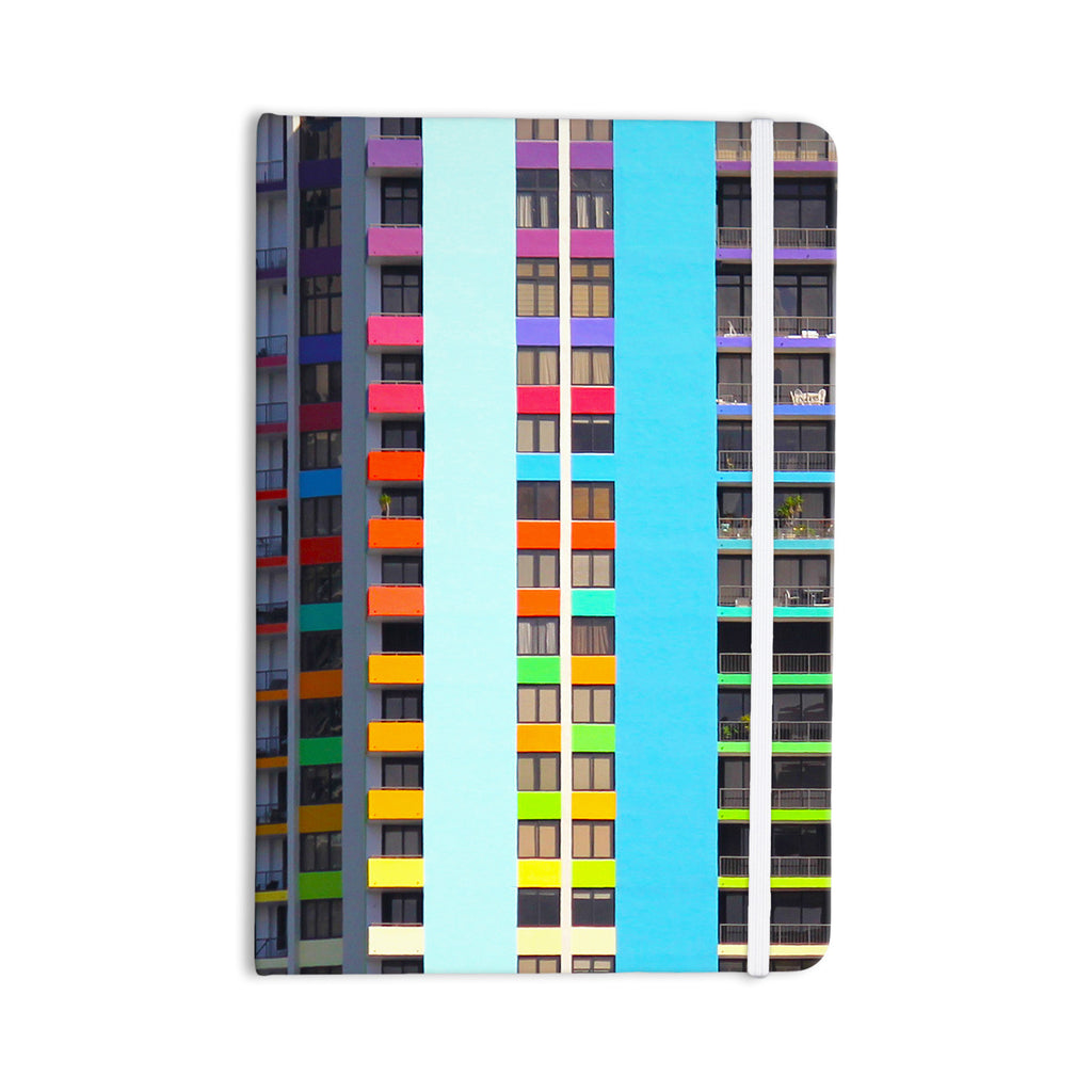 "Philip Brown ""The Rainbow Building"" Multicolor Modern Everything Notebook - KESS InHouse  - 1"