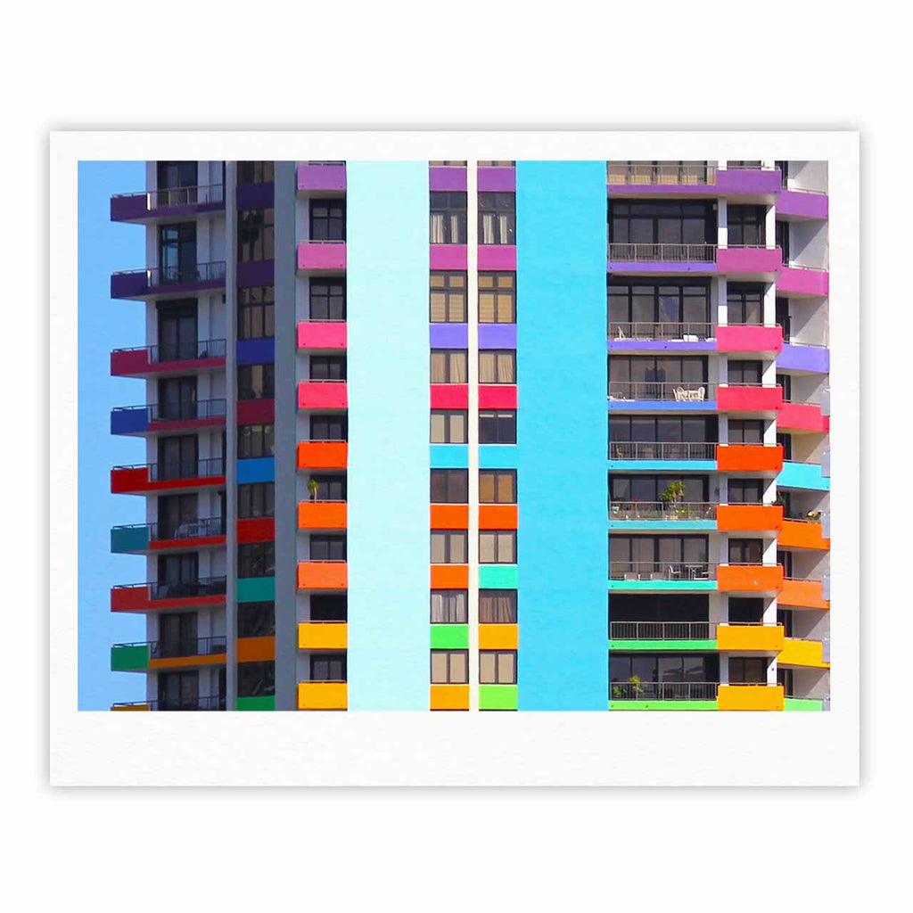 "Philip Brown ""The Rainbow Building"" Multicolor Modern Fine Art Gallery Print - KESS InHouse"
