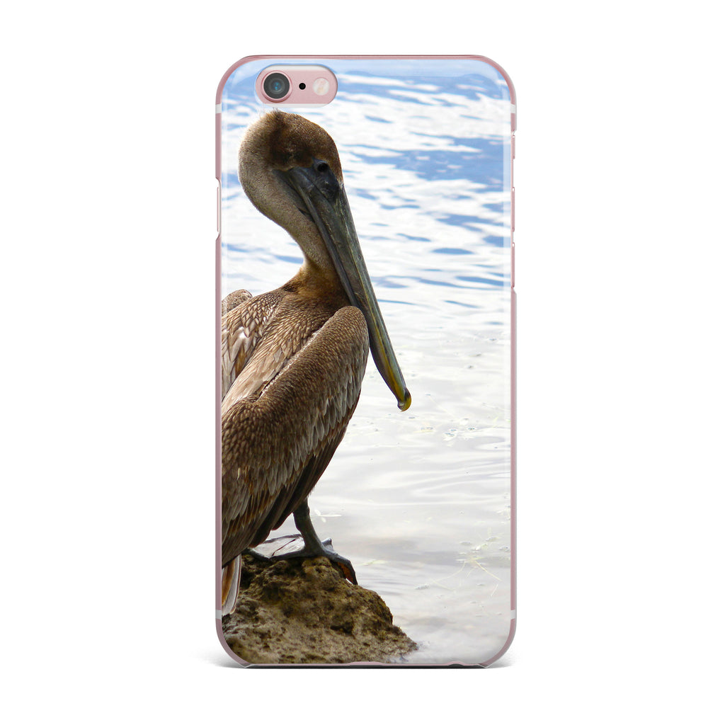 "Philip Brown ""Pelican Waiting"" Blue Photography iPhone Case - KESS InHouse"