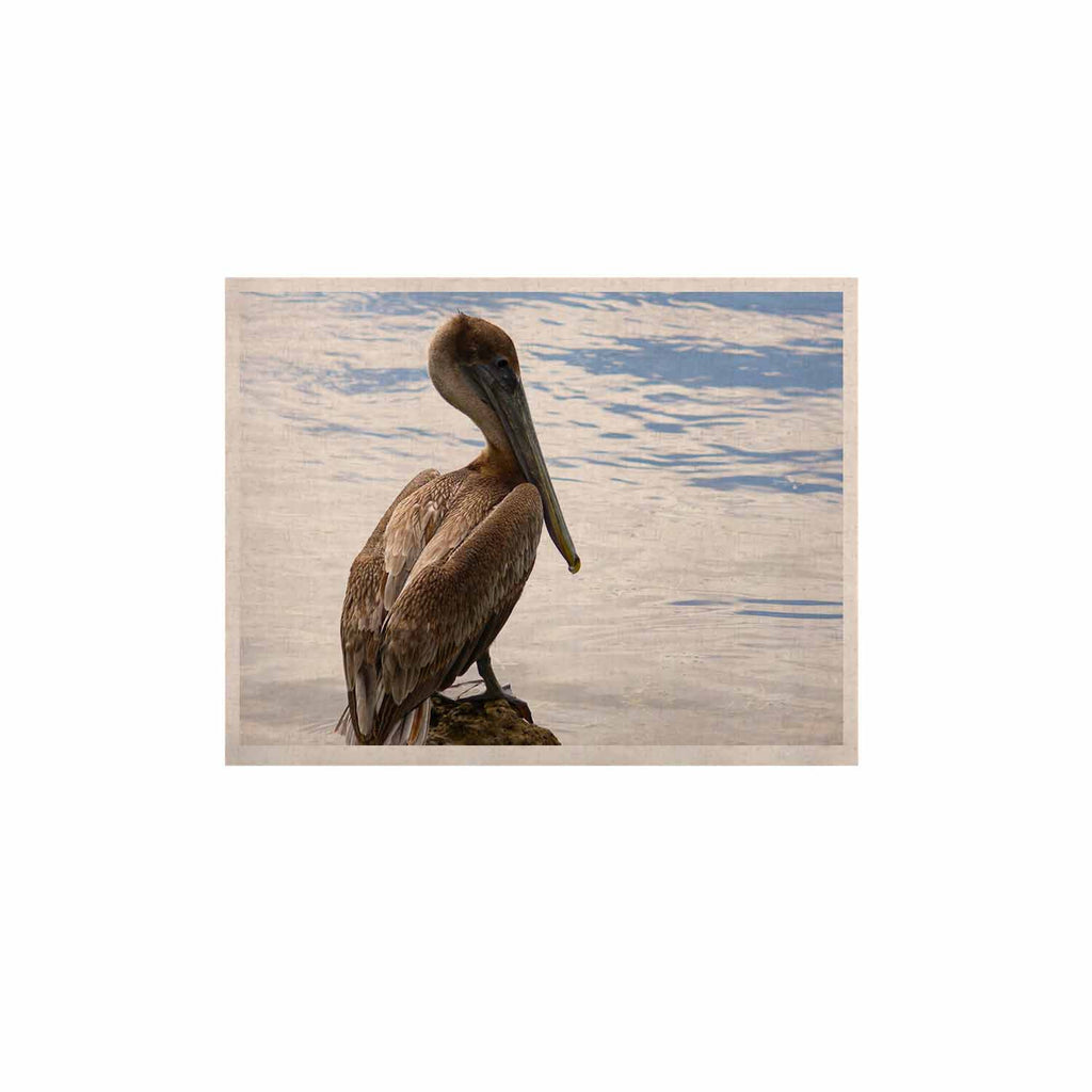 "Philip Brown ""Pelican Waiting"" Blue Photography KESS Naturals Canvas (Frame not Included) - KESS InHouse  - 1"