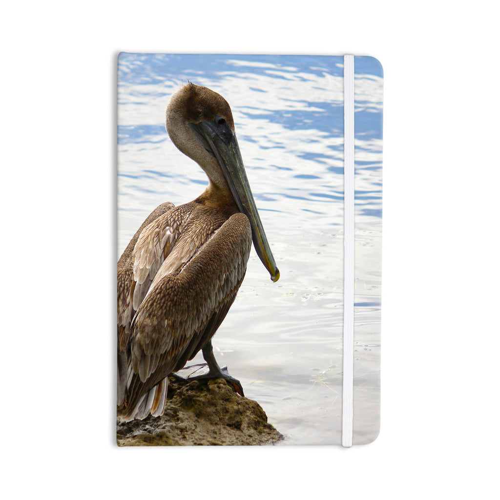 "Philip Brown ""Pelican Waiting"" Blue Photography Everything Notebook - KESS InHouse  - 1"