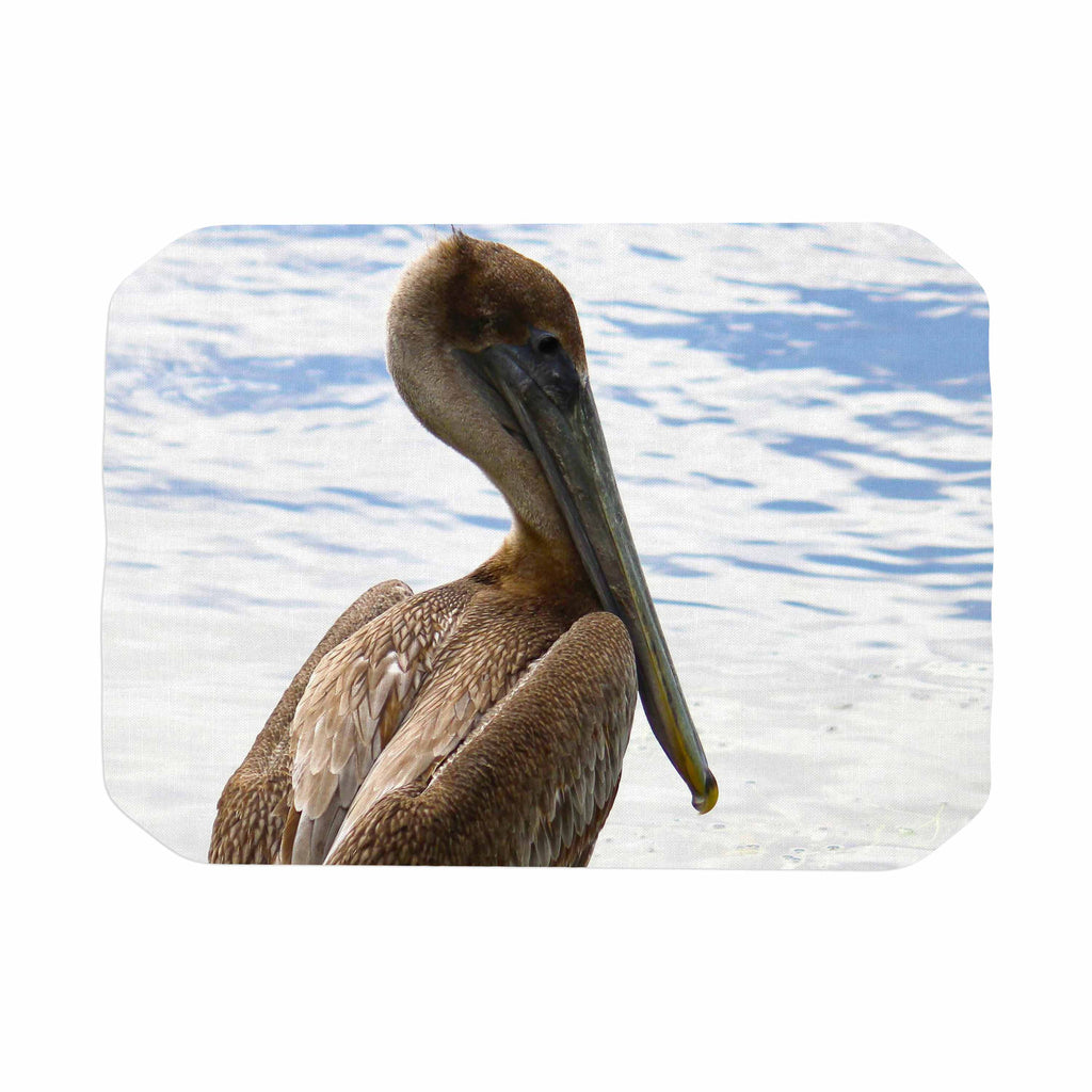 "Philip Brown ""Pelican Waiting"" Blue Photography Place Mat - KESS InHouse"