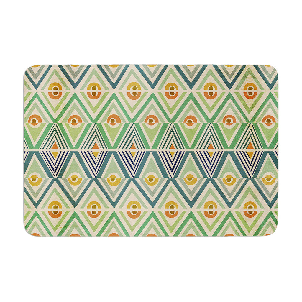 "Pom Graphic Design ""Celebration"" Memory Foam Bath Mat - KESS InHouse"