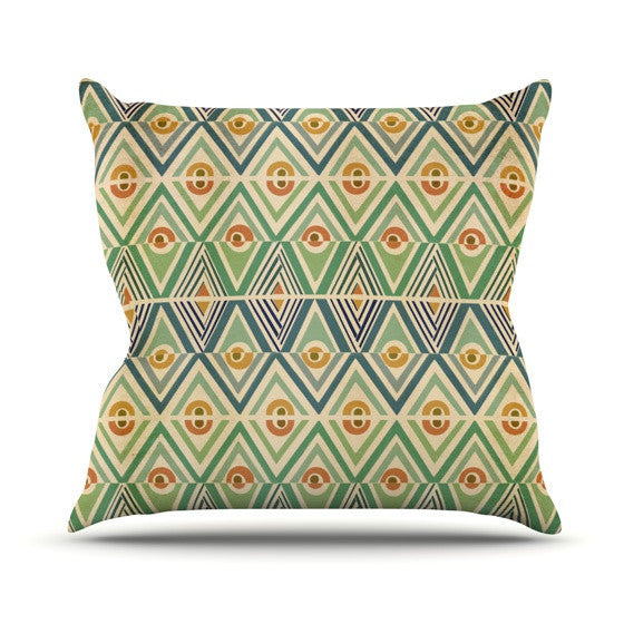 "Pom Graphic Design ""Celebration"" Outdoor Throw Pillow - KESS InHouse  - 1"
