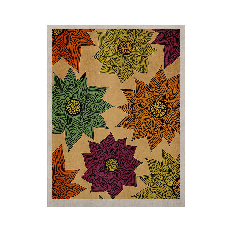 "Pom Graphic Design ""Color Me Floral"" KESS Naturals Canvas (Frame not Included) - KESS InHouse  - 1"