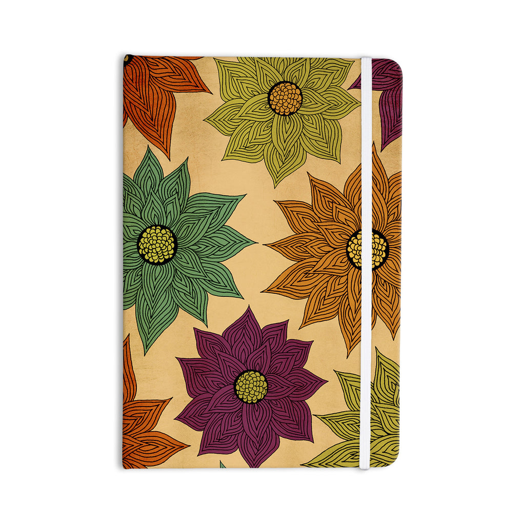 "Pom Graphic Design ""Color Me Floral"" Everything Notebook - KESS InHouse  - 1"