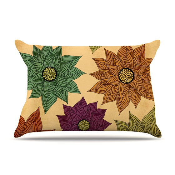 "Pom Graphic Design ""Color Me Floral"" Pillow Sham - KESS InHouse"