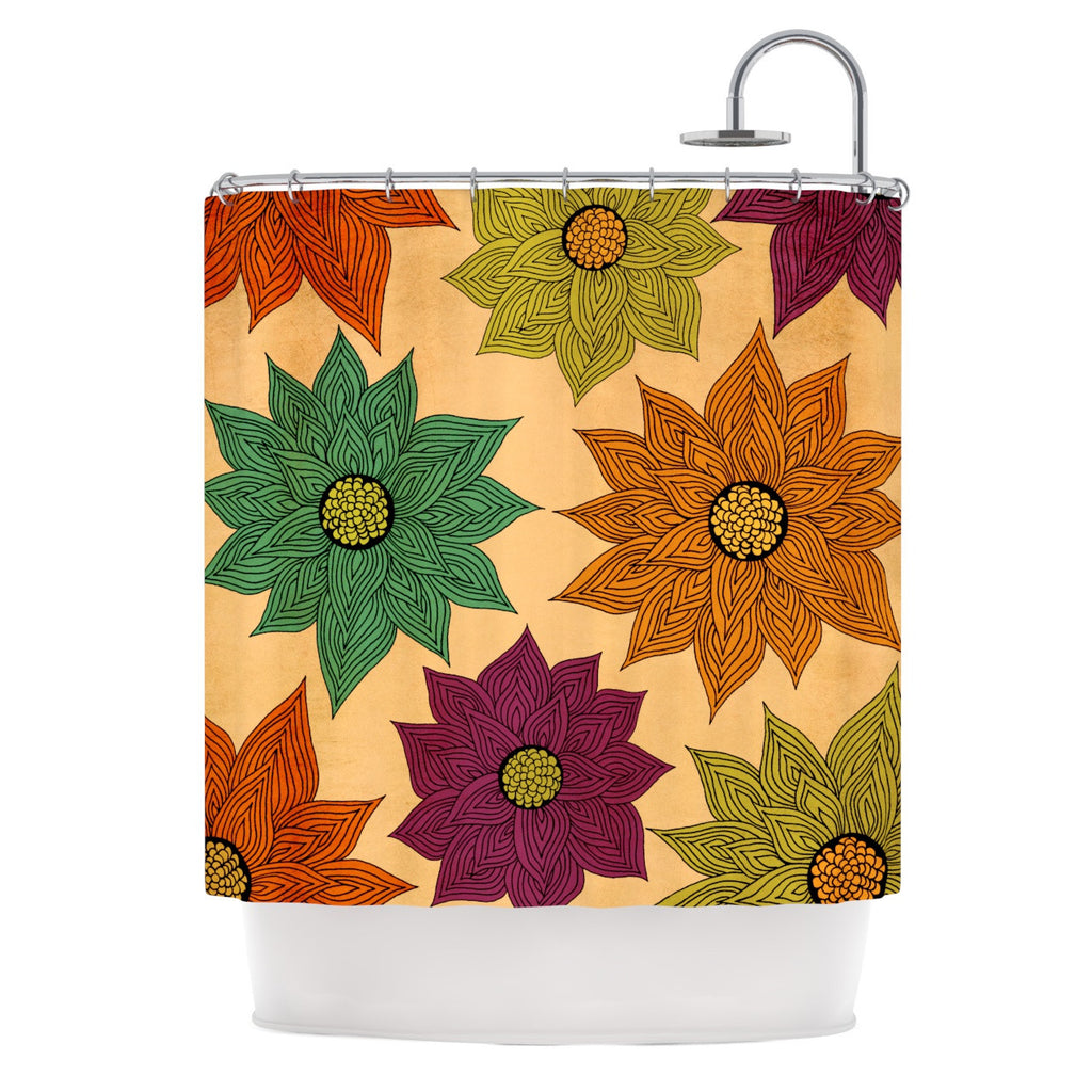 "Pom Graphic Design ""Color Me Floral"" Shower Curtain - KESS InHouse"