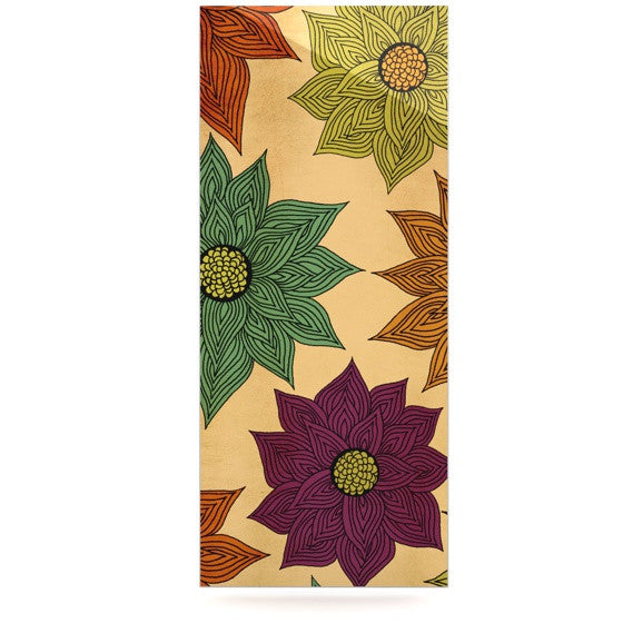 "Pom Graphic Design ""Color Me Floral"" Luxe Rectangle Panel - KESS InHouse  - 1"