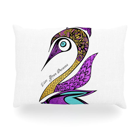 "Pom Graphic Design ""Dreams Swan"" Oblong Pillow - KESS InHouse"