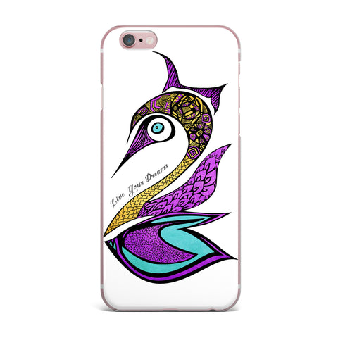 "Pom Graphic Design ""Dreams Swan"" iPhone Case - KESS InHouse"
