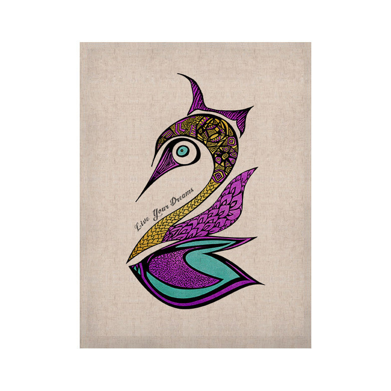 "Pom Graphic Design ""Dreams Swan"" KESS Naturals Canvas (Frame not Included) - KESS InHouse  - 1"