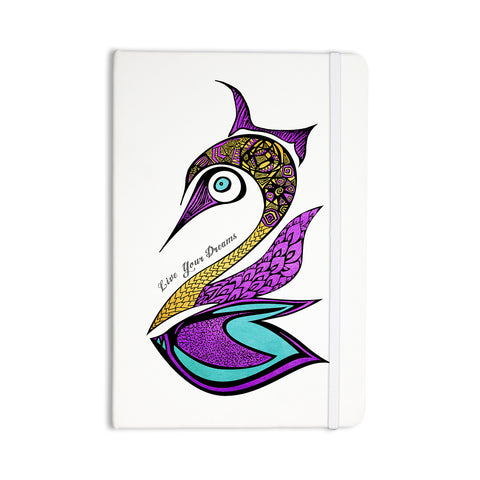 "Pom Graphic Design ""Dreams Swan"" Everything Notebook - KESS InHouse  - 1"