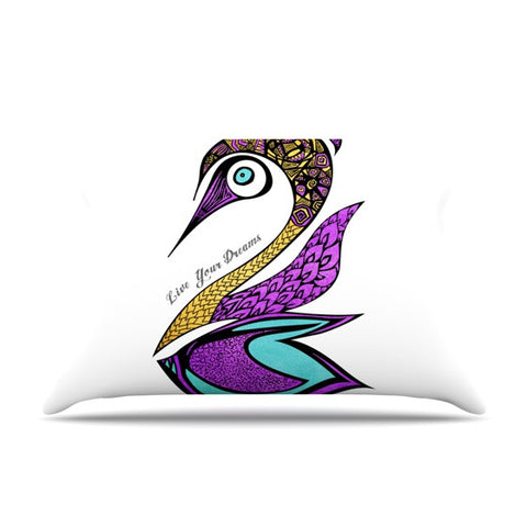"Pom Graphic Design ""Dreams Swan"" Pillow Sham - KESS InHouse"