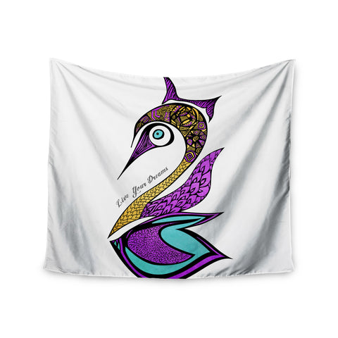 "Pom Graphic Design ""Dreams Swan"" Wall Tapestry - KESS InHouse  - 1"