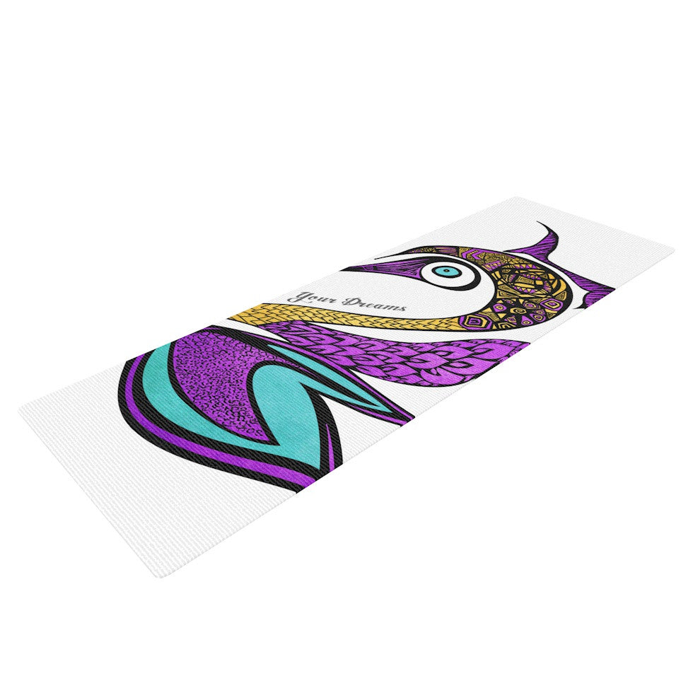 "Pom Graphic Design ""Dreams Swan"" Yoga Mat - KESS InHouse  - 1"