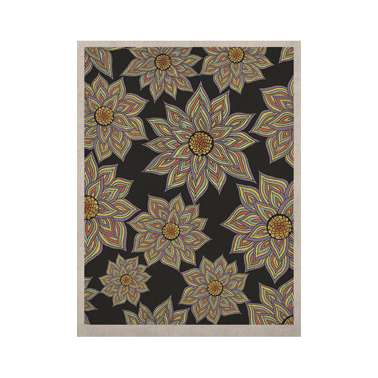 "Pom Graphic Design ""Floral Dance in the Dark"" KESS Naturals Canvas (Frame not Included) - KESS InHouse  - 1"